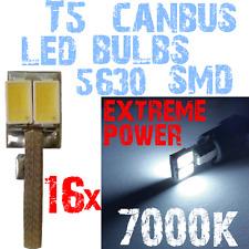 16x T5 LED 5630 White 5000k lichten bollen 12V Dashboard CANBUS Geen Fout 1C12 1