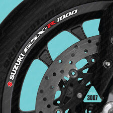 SKU3007 -  10 x Suzuki GSX-R1000 Wheel Rim Stickers Decals Transfers