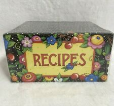 Mary Engelbreit Recipe Box Recipe Cards Tabbed Dividers Flower Cherry New Sealed