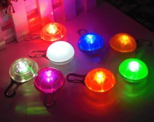 LED Dog Cat Kitten Collar Night Safety Clip Tag Flashing Light Up Pendant Ball