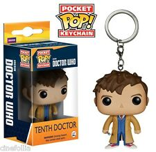 Portachiavi Doctor Who Tenth 10th Dr Pocket Pop! Vinyl KeyChain Funko