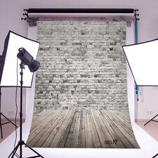 5X7FT Retro Gray Brick Wall Photo Background Vinyl Photography Backdrop QD120