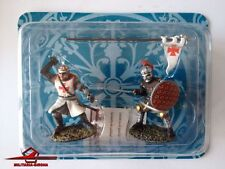 TEMPLAR KNIGHT AND SARACEN WARRIOR - 12th CENTURY - SET OF 2 - SCALE 1:32 ALTAYA