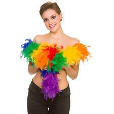 ARCOIRIS MULTICOLOR Boa de plumas Disfraz Mujer Accesorio 60gm/1.7m