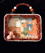 Handmade Ooak Christmas Carolers Shadow Box Christmas Ornament