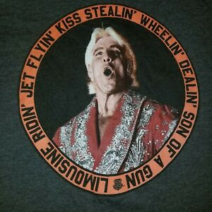 Ric Flair WWE Graphic T-Shirt (Size 2XL) Gray