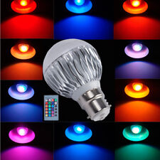 Dimmable B22 Bayonet RGB LED Bulb 5W Multicolor Changing Light Decor Lamp Remote