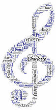 Treble Clef Personalised Word Art Print