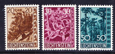 LIECHTENSTEIN 1960 SG401/3 Trees & Bushes - set of 3 - unmounted mint. Cat £75