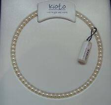 Collana Filo Perle Kioto diametro 5/6 mm Chiusura Oro Bianco 105B