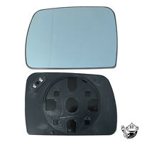 WING MIRROR GLASS FOR RANGE ROVER L322 PASSENGER SIDE BLUE CONVEX HEATED 02-04