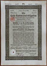 1000 Goldmark 1929 Loan Bond - Series: 0717