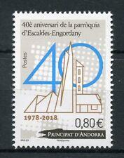 French Andorra 2018 MNH Escaldes-Engordany Parish 1v Set Architecture Stamps