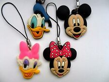 Set Of Four Rubber Disney Mickey Mouse & Friends  Christmas  Decorations