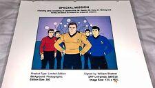 Rare Star Trek Laminated Cel Promo Binder Page Special Mission