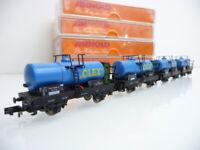 Arnold N 1:160 4524 4-teiliger Kesselwagen mit Brhs Zug OLEX 2-achsig blau + OVP