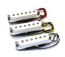Set of 3 - Modern Style White Hex Pole Pickups for Fender Stratocaster Strat®