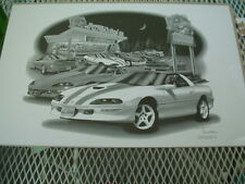 """97 30th anniversary Camero SS, Thom SanSoucie, Hand Signed Print, 11"""" x 17"""""""