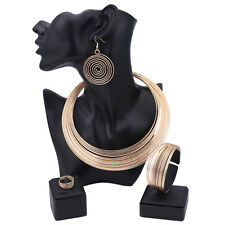 Women Necklace Earrings Bangle Ring African Costume Gold/Plated Jewelry Sets