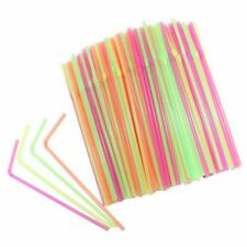 100 pcs Disposable Drinking Straws, Plastic Drinking Straws for Birthday, W C5P6
