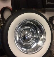 """3"""" Wide White wall  Old Tire Style Hot Rod Rat Street Rod Custom For 15"""" Tires.."""