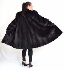 K830 Female Felle Nerzmantel Nerz Pelz Mantel Swinger Fur Mink Coat  XL