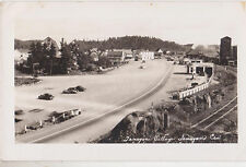 RPPC,Temagani,Ontario,Canada,View of Village,Esso Gas Station,Used,1950