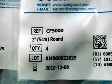 """8 Axelgaard ValuTrode CF5000 2"""" Round Fabric Top Electrodes 4 Per Pack 8 total"""