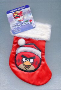 "Red Angry Bird 7"" Christmas Stocking Ornament Santa Sock"