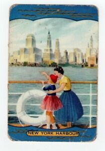 Swap Card Genuine Coles Named New York Harbour. Poor Condition.