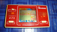 Vintage GO LAS VEGAS LCD Card Game Watch Type Red Pocket Size Bandai