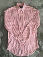 Ralph Lauren Men's Oxford Shirt - Pink Pinstripe - Small