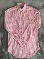 Ralph Lauren Men's Oxford Shirt - Pink Pinstripe - Small