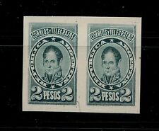 Argentina 2 peso cardboard proof essay  not issued as stamp pair        MS1015