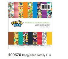 "American Crafts 6"" x 6"" Paper Pad ~ IMAGINISCE ~ FAMILY FUN ~ 36ct  ~400670"