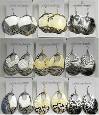 SU-8 Wholesale lot 9 pairs Fashion Dangle Silver/Gold Plated  Earrings US-SELLER