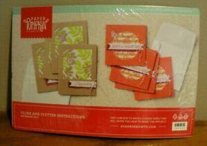 Paper Pumpkin Kit Flora and Flutter Instructions December 2017 REFILL Sealed