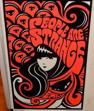 "RARE EMILY STRANGE ""PEOPLE ARE STRANGE"" LARGE VELVET COLOR POSTER"