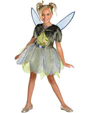 Disney Fairies Tinker Bell Deluxe Classic Girls Costume W Wings Size Small 4-6x