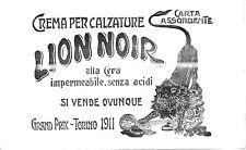 CARTA ASSORBENTE SCRITTURA LION NOIR CREMA PER CALZATURE LEONE SCARPE TORINO 911