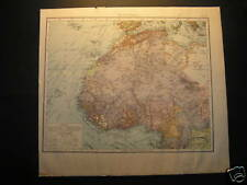 Antique Landkarte map West Africa 1880 Westafrika landkaart
