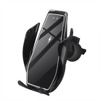 15W Qi Wireless Car Charger Mount Air Vent Cell Phone Holder For iPhone 11 8 XS