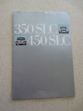 Original Mercedes 350 SLC & 450 SLC automobiles advertising brochure - French