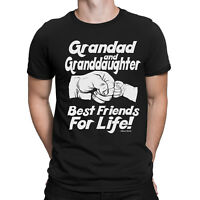 Grandad & Granddaughter Friends For Life Mens Funny T-Shirt Fathers Day Gift Top