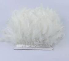 White Turkey Feather Fringe Ribbon Trim Price for 30cm DIY Craft Decor Wedding