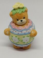 Vintage Lucy & Me Bear-Enesco-1991 - Easter Egg With Yellow Flowers - J117