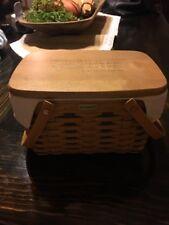 Longaberger Home Office10th Anniversary Little Market Basket Combo