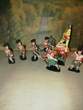 Timpo Toys 1/32 Figures x7 Scottish Highlanders Waterloo Period Redcoats.