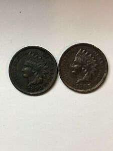 1893 AND 1897  Indian Head Cents - EXTRA FINE, EXACTLY AS IN PHOTOS  originals