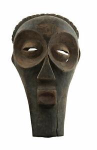 Ancien Masque Songye africain RDC bois 37cm Art coutumier 17147